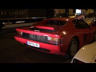 Supercar spotting in Paris: Testarossa, Scuderia, Camaro SS, SLS AMG