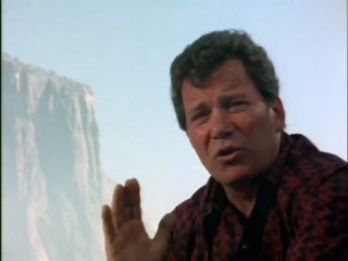 Captain kirk is climbing a mountain, why is he climbing a mountain?