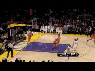 Kobe Bryant spins, hangs in the air and hits the shot