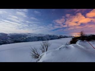 Полярное сияние на границе Норвегии и России