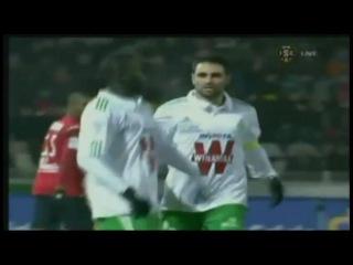 Лига 1 2010/2011. 19 тур. Лилль - Сент-Этьен (1-1) - 1-1, Сако 75 (пен)