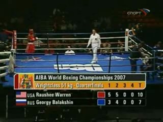 (до 51 кг) Георгий Балакшин(Рос) - Раши Уоррен(США) ЧМ Чикаго-2007.1/4 финала