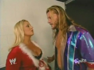 Trish Stratus and Chris Jericho Backstage