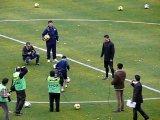 Cristiano Ronaldo kicks the ball in Uzbekistan