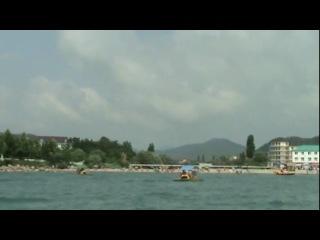 Черное море пляж поселок Новомихайловский
