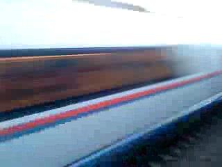 высокоскоростной поезд СапСан проехал мимо станции Большая Вишера октябрьской железной дороги