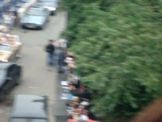Премия МУЗ-ТВ 2010. Ковровая доожка - вид сверху. В машине - Борис Моисеев