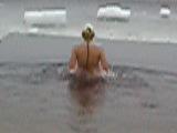 Моё купание в прорубе на Крещение)))))