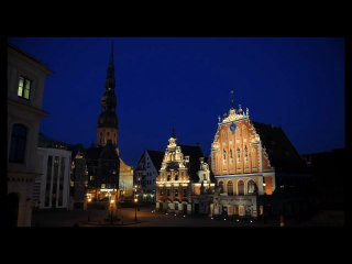 Огни ночного города Рига