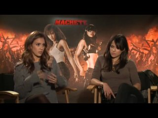 Machete Press Junket Jessica Alba and Michelle Rodriguez Interview
