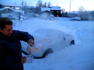 Вот что будет с кипятком на морозе в -30 градусов...