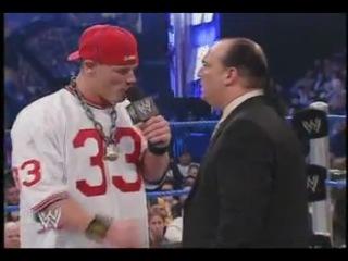 John Cena Paul Heyman Segment (WWE SmackDown! 15.01.2004)