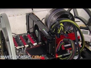 Возгорание новейшей видео-карты NVIDIA GeForce GTX 590 (вышла 24 марта 2011) ЭПИЧЕСКИЙ ПРОВАЛ РАЗГОНА ШВЕДАМИ