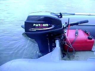 2-x тактный Parsun T15. Работа на холостых оборотах