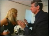 Trish Stratus and Vince backstage