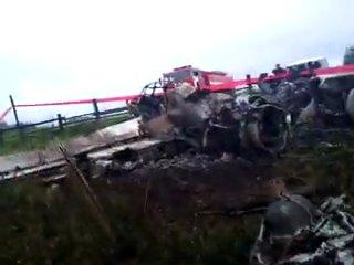 Авиакатастрофа Ан-24 в Игарке (все, что осталось от борта)