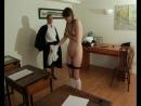 Наказание в английской школе в 1953 году: учительница порет трех школьниц - ремнем, розгами и шлепаньем. Часть 11.