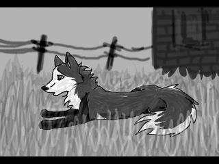 История пса Молнии и волчицы Лунный волк