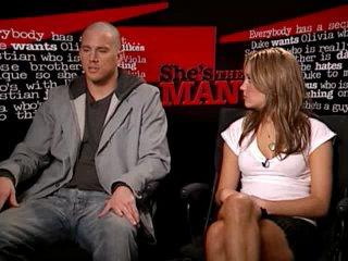 Интервью Amanda Bynes & Channing Tatum ( Фильм Она Мужчина ) HD 360