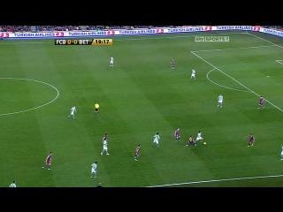 Кубок Испании 2010-2011 / 1/4 финала / Первый матч / Барселона - Реал Бетис  (1 тайм)