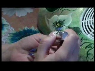 Нанисение фотодизайна на нарощеные ногти под гель.