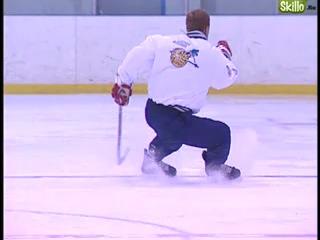 техника  торможения на коньках