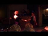 Корпоратифка 2010. Конкурс танца цыганочка. Я в чёрно- блестящем платье