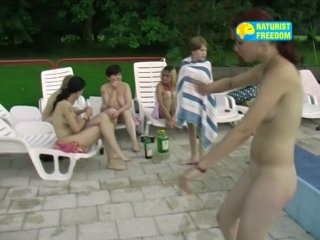 Naturist Freedom-Nitht Swimming Pool ( Czech Republic )