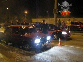 (1214) - SkullRoadTeam 25.09.2010 - KIA Spectra vs ВАЗ 2107 by TAZ Team