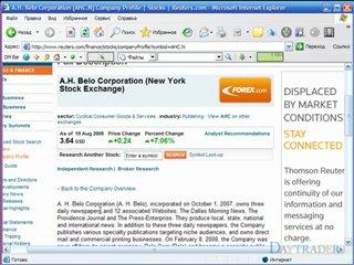 Пример техники research на Finviz и Reuters Фундаментальный анализ