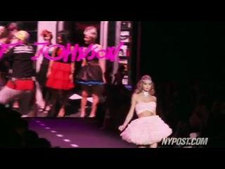 Betsey johnson gets creative at ny fashion week ss 2011 - new york post