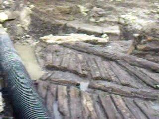 Старовинна дерев'яна дорога на площi Осмомисла
