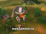заяц шнуфель (на русском поёт песню)