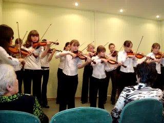 Ансамбль скрипачей Национальной Президентской школы Республики Марий Эл для одаренных детей.