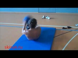 Тренировка лыжников (хорошее упражнение на спину и пресс)