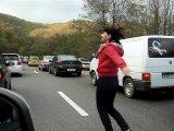 танцы в пробке )))