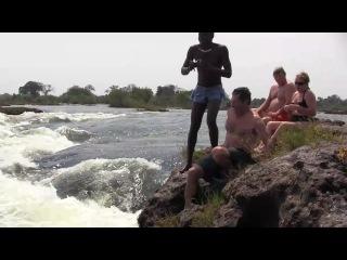 Водопад Виктория р. Замбези (со стороны Зимбабве)