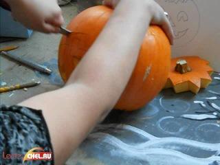 Как подготовить тыкву к Хэллоуину (Фильм третий)