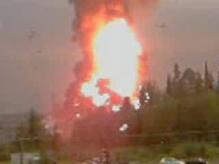 Взрыв РВС Конда