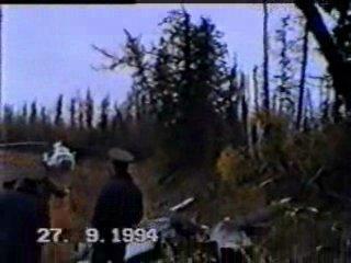 На месте катастрофы самолета Як-40 АК 'Черемшанка' в районе н.п.Ванавара 18+ жесть