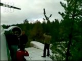 Аварийная посадка Ту-154 (Видео очевидца из салона самолета)