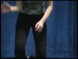 Busty teen cheerleader 15 years old with big boobs dancing