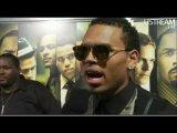 Chris Brown даёт интервью Terrence J на закрытой премьере фильма Takers в Лос-Анджелесе