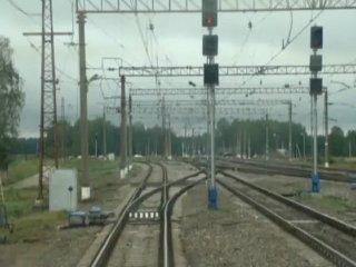 Вид глазами машиниста на окружающий мир... поездная работа в общем...