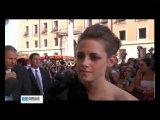 Kristen Stewart Talks about Breaking Dawn, sex scenes on red carpet in Rome (June 17th)