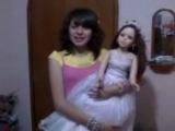 Очень страшное видео:D Живая кукла!