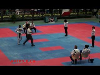 WAKO WC 2009 FINALE Semicontact 74kg Di Leo ITA vs Mc Dermott IRE