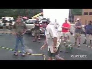 Дненики Вампира.Съёмка сцены с горящей машиной