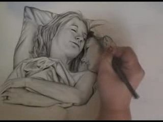 Watch a drawing Two women in bed