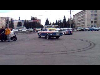 Дрифт Волга ГАЗ 24 с двигателем БМВ